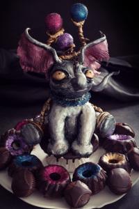 Cake dumbo - shadow cake, ganache chocolat  ©Photographie et stylisme culinaire Qui a volé les tartes ?