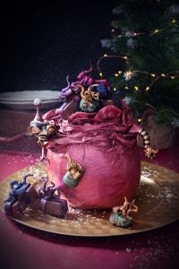 La Hotte du Père-Nowel - cake noisette, croustillant Miel/cédrat/amandes, ganache chocolat blanc aux zestes de cédrat ©Photographie et stylisme culinaire Qui a volé les tartes ?