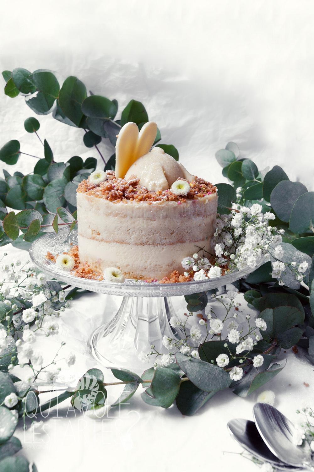 Le lapin blanc 1 - entremet vanille chocolat blanc - Studio 2 création - Qui a volé les tartes