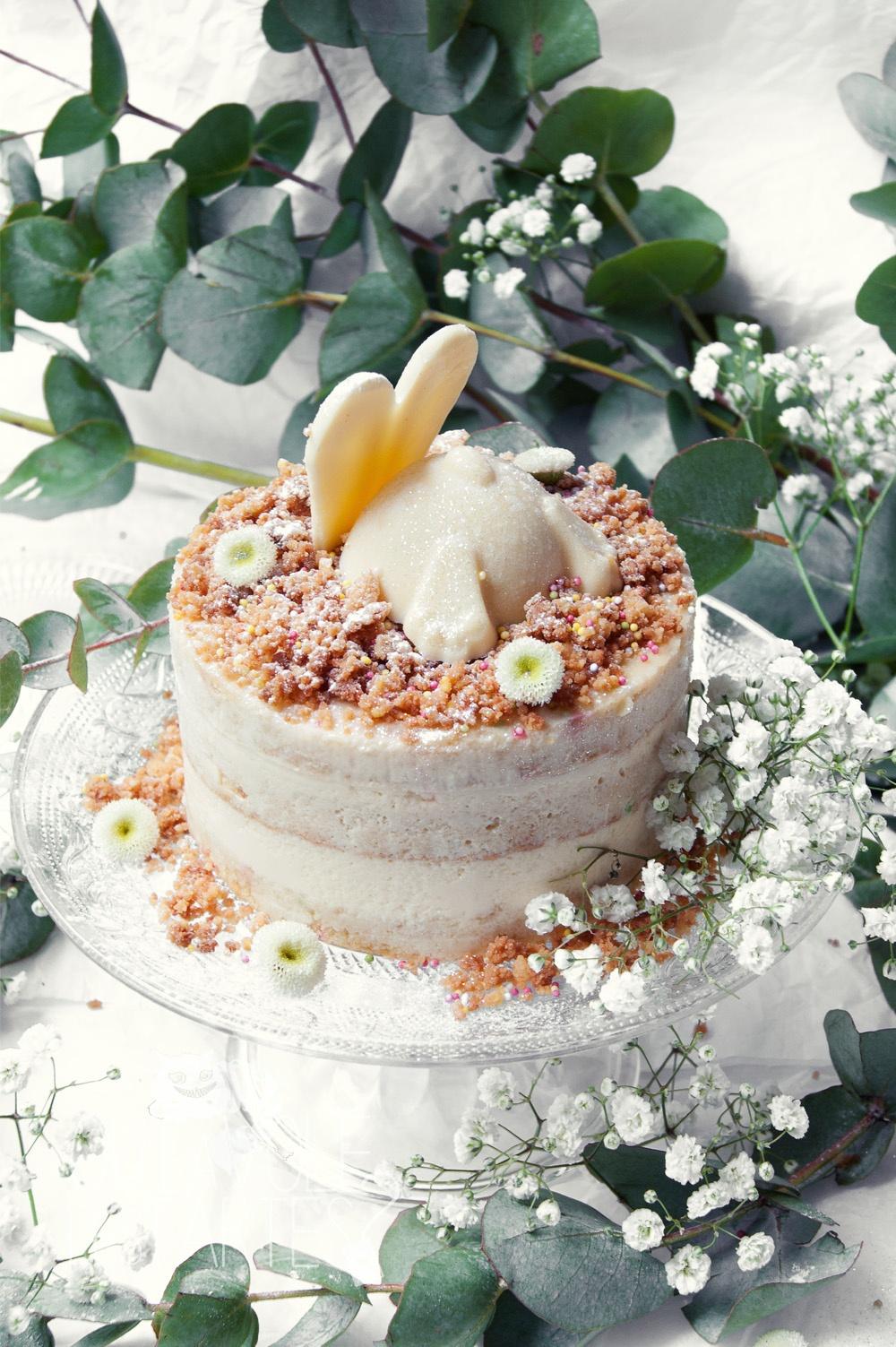 Le lapin blanc - entremet vanille chocolat blanc - Studio 2 création - Qui a volé les tartes