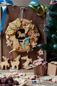 Cadeaux gourmands, couronne de Noël & truffes au chocolat ©Photographie et stylisme culinaire Qui a volé les tartes ?