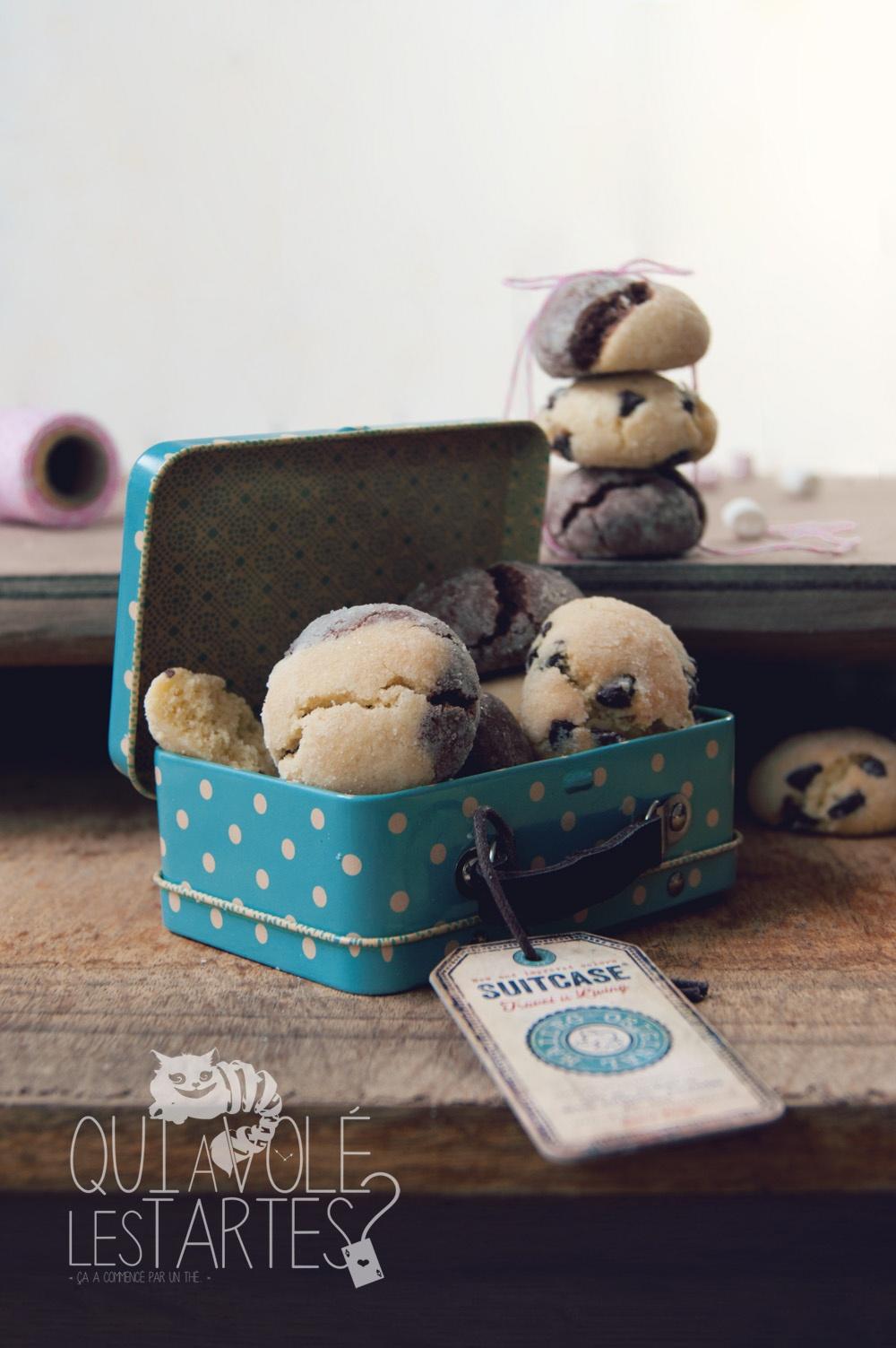 Crinkles sans gluten chocolat & amandes - Studio de création - Qui a volé les tartes