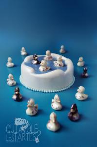 La Mare aux canards - Entremet citron praliné ©Photographie et stylisme culinaire Qui a volé les tartes ?