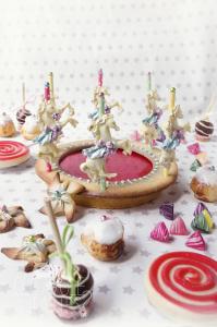 Tarte Carrousel & Fête foraine - Tarte chocolat noir & berlingots ©Photographie et stylisme culinaire Qui a volé les tartes ?