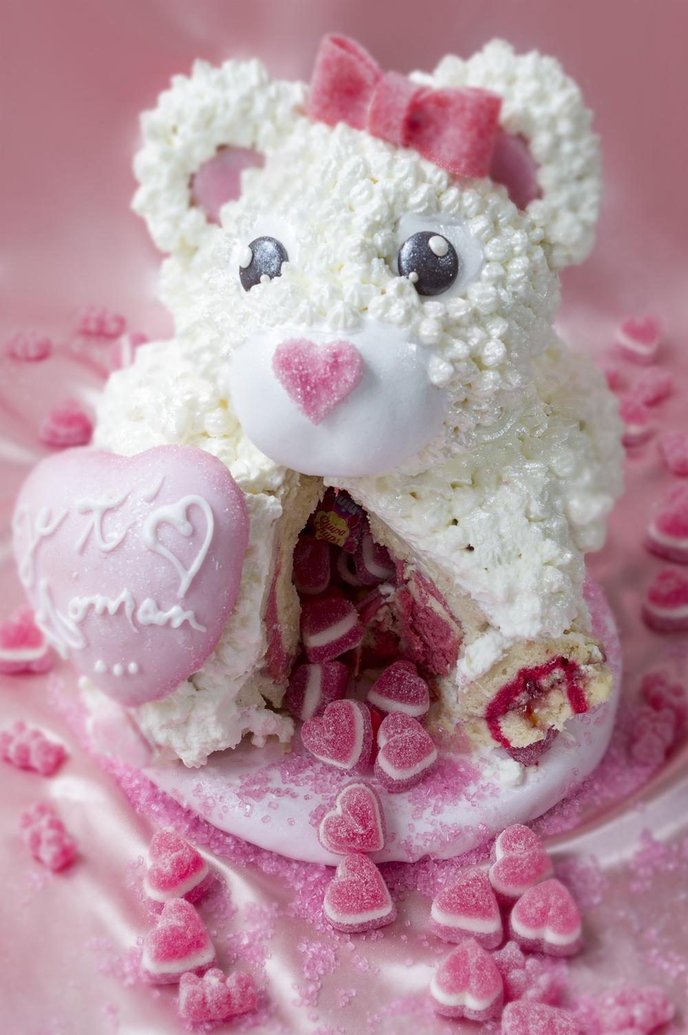 Cake petit ourson je t'aime maman - studio de création - Qui a volé les tartes (2)