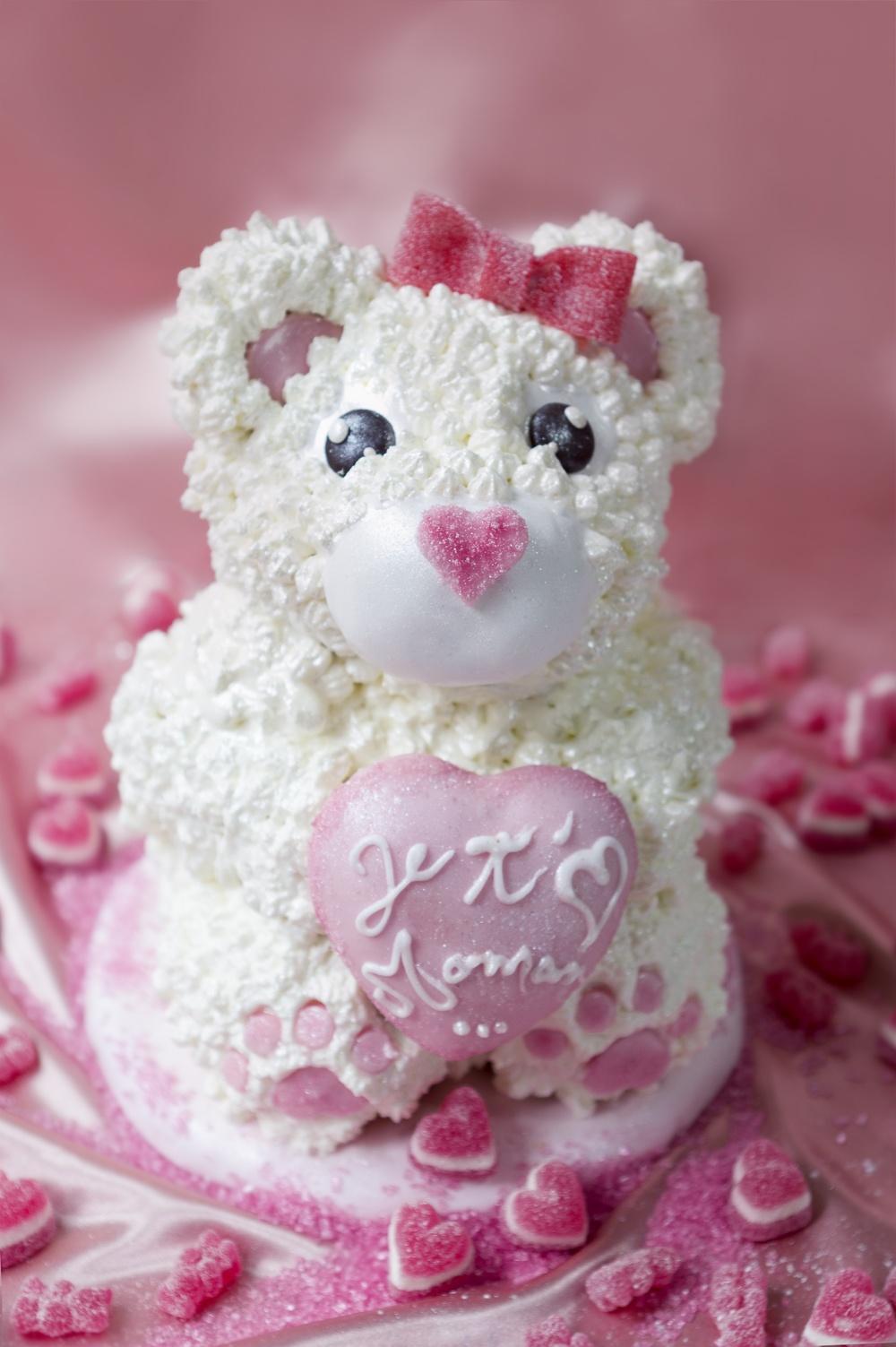 Cake petit ourson je t'aime maman - studio de création - Qui a volé les tartes