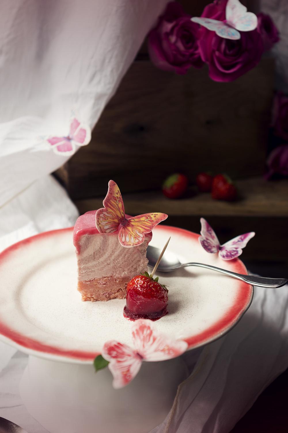 Zebra cheesecake fraise - Studio de création - Qui a vole les tartes (2)
