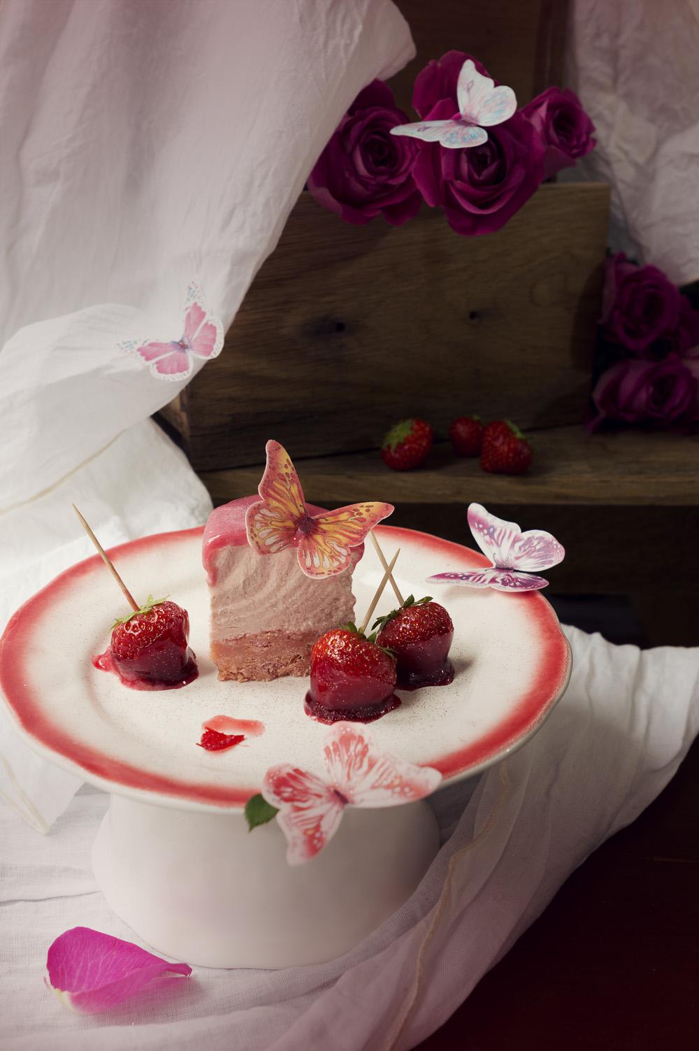Zebra cheesecake fraise - Studio de création - Qui a vole les tartes (3)