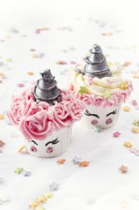 Champicornes cupcakes, les champignons qui t'envoient au pays des licornes !   ©Photographie et stylisme culinaire Qui a volé les tartes ?
