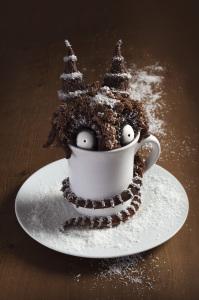 Mud cake monster, mud cake chocolat, café et coco, ganache chocolat  ©Photographie et stylisme culinaire Qui a volé les tartes ?