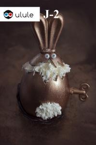 Le lapin fou - L'oeuf d'or - Oeuf de Pâques  ©Photographie et stylisme culinaire Qui a volé les tartes ?
