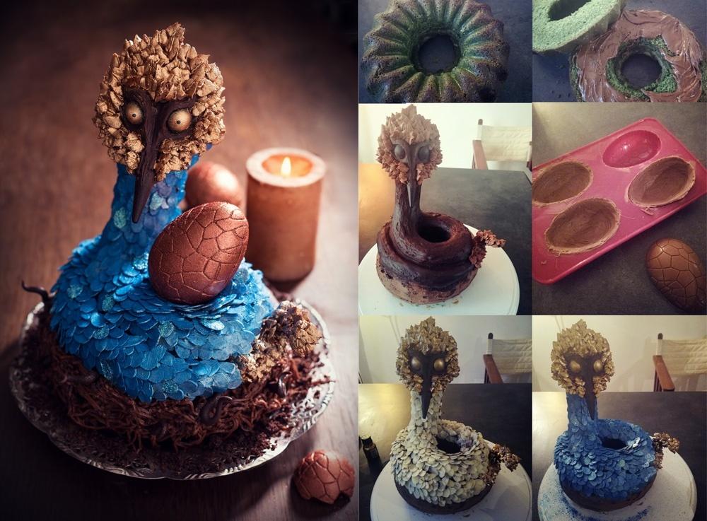 Serpent à plumes montage 1 - Studio de creation - Qui a vole les tartes