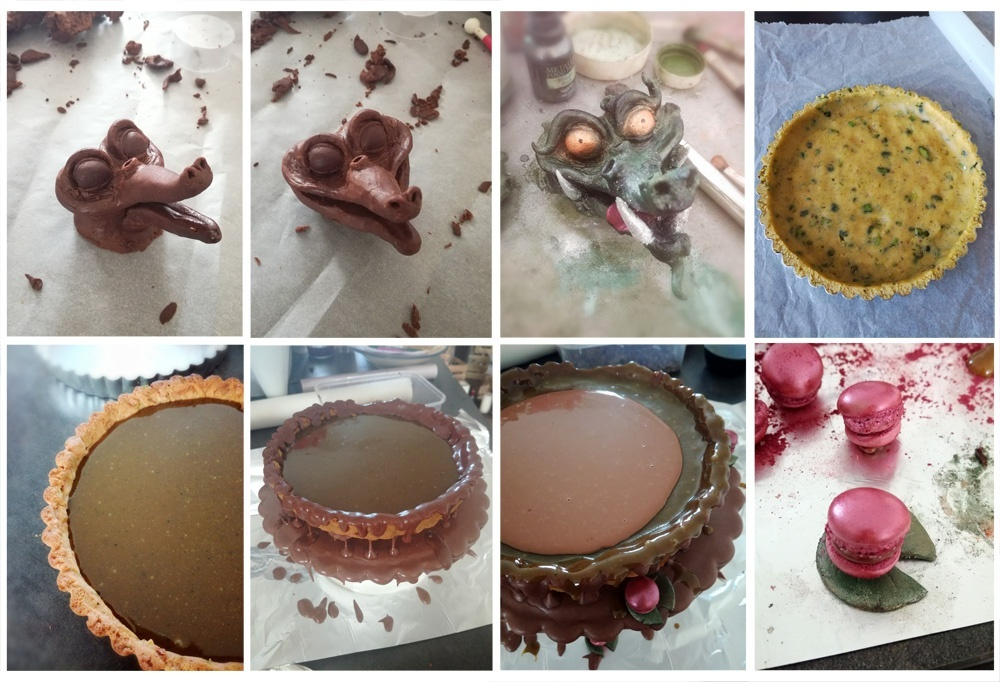 Montage tarte au crocrodile - Studio de creation - Qui a vole les tartes