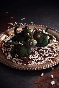 Monstre frankeinsteenesque dhalloween ©Photographie et stylisme culinaire Qui a volé les tartes ?