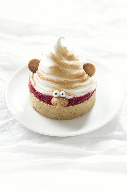 Troll pie - tarte fraise rhubarbe meringue - Studio de creation - Qui a vole les tartes