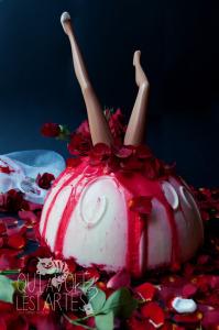 Corpse Bride - Entremet Halloween mousse mascarpone & vanille ©Photographie et stylisme culinaire Qui a volé les tartes ?