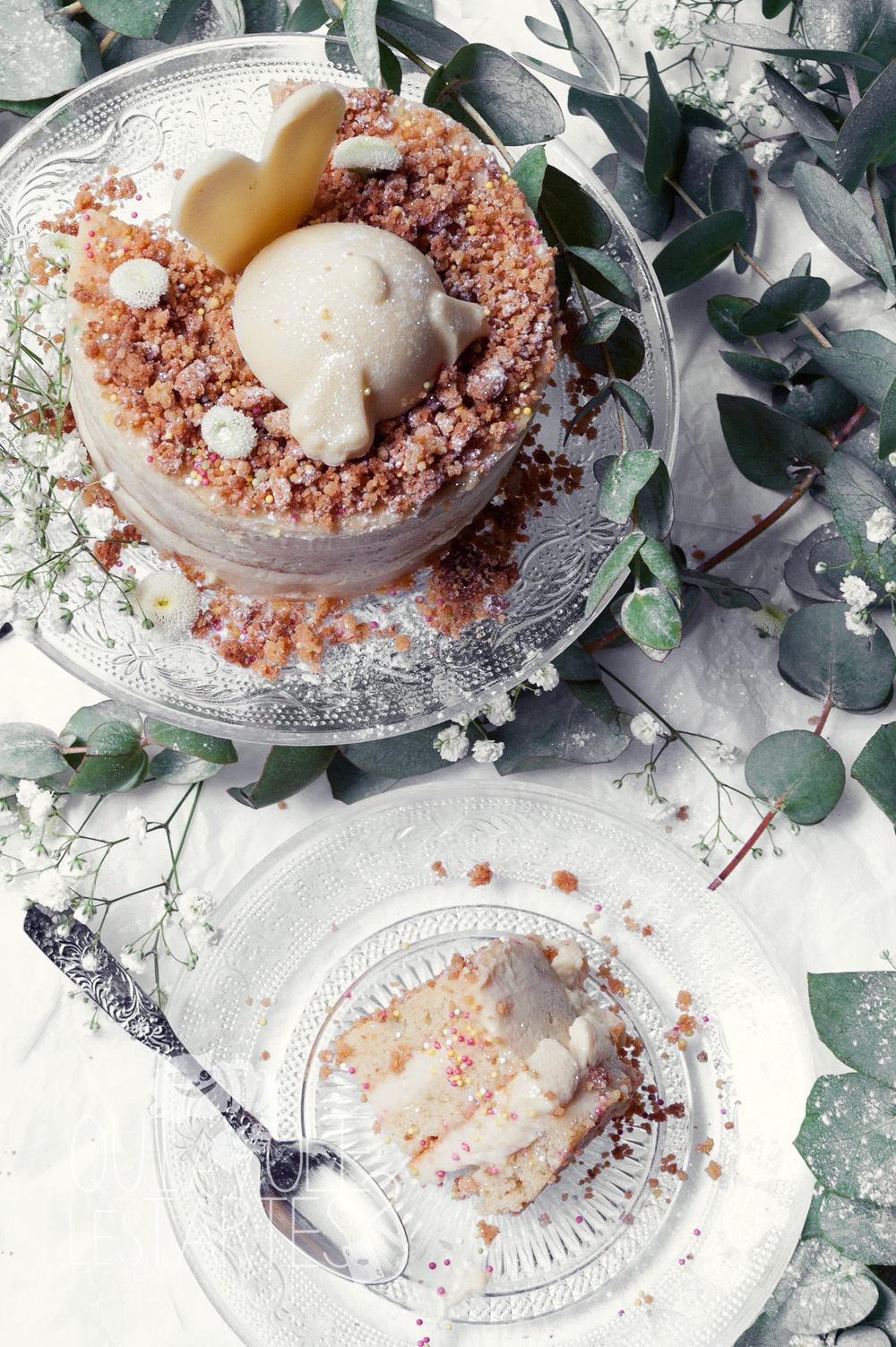 Le lapin blanc 3 - entremet vanille chocolat blanc - Studio 2 création - Qui a volé les tartes