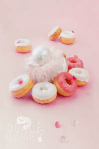 Minis donuts sans gluten St Valentin ©Photographie et stylisme culinaire Qui a volé les tartes ?