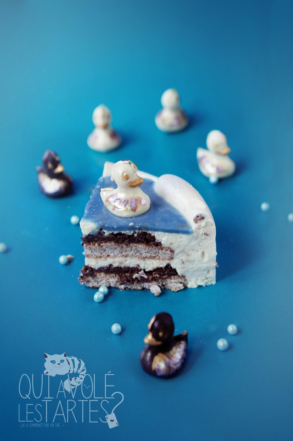 La Mare aux canards 2 - entremet citron praliné - Studio de création - Qui a volé les tartes