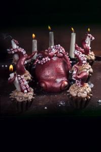 Cupcake Kraken - Halloween ©Photographie et stylisme culinaire Qui a volé les tartes ?