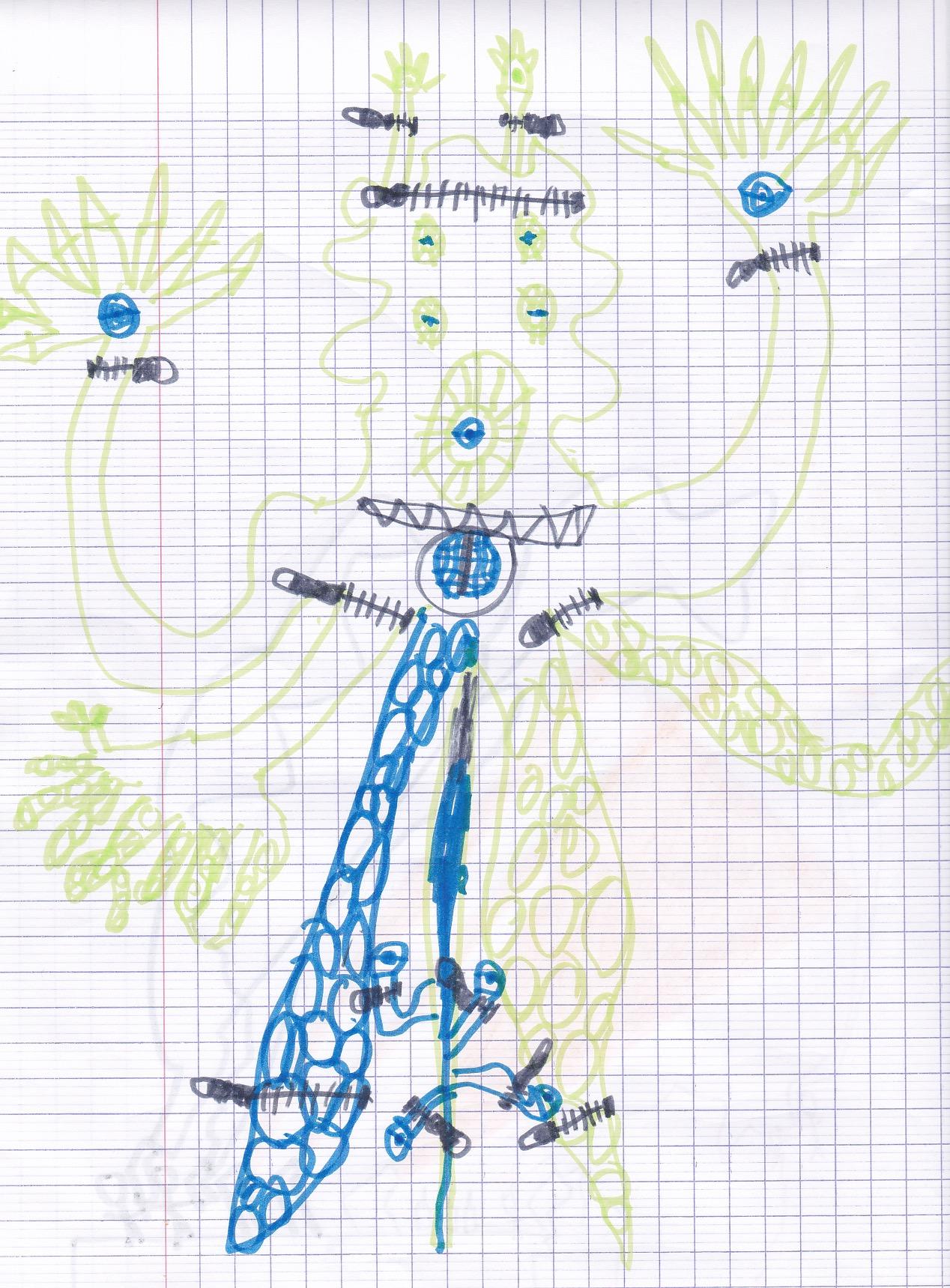 Monstre de Antoine 7 ans
