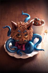 Le chat poulpe - Fondant au chocolat sans gluten  ©Photographie et stylisme culinaire Qui a volé les tartes ?