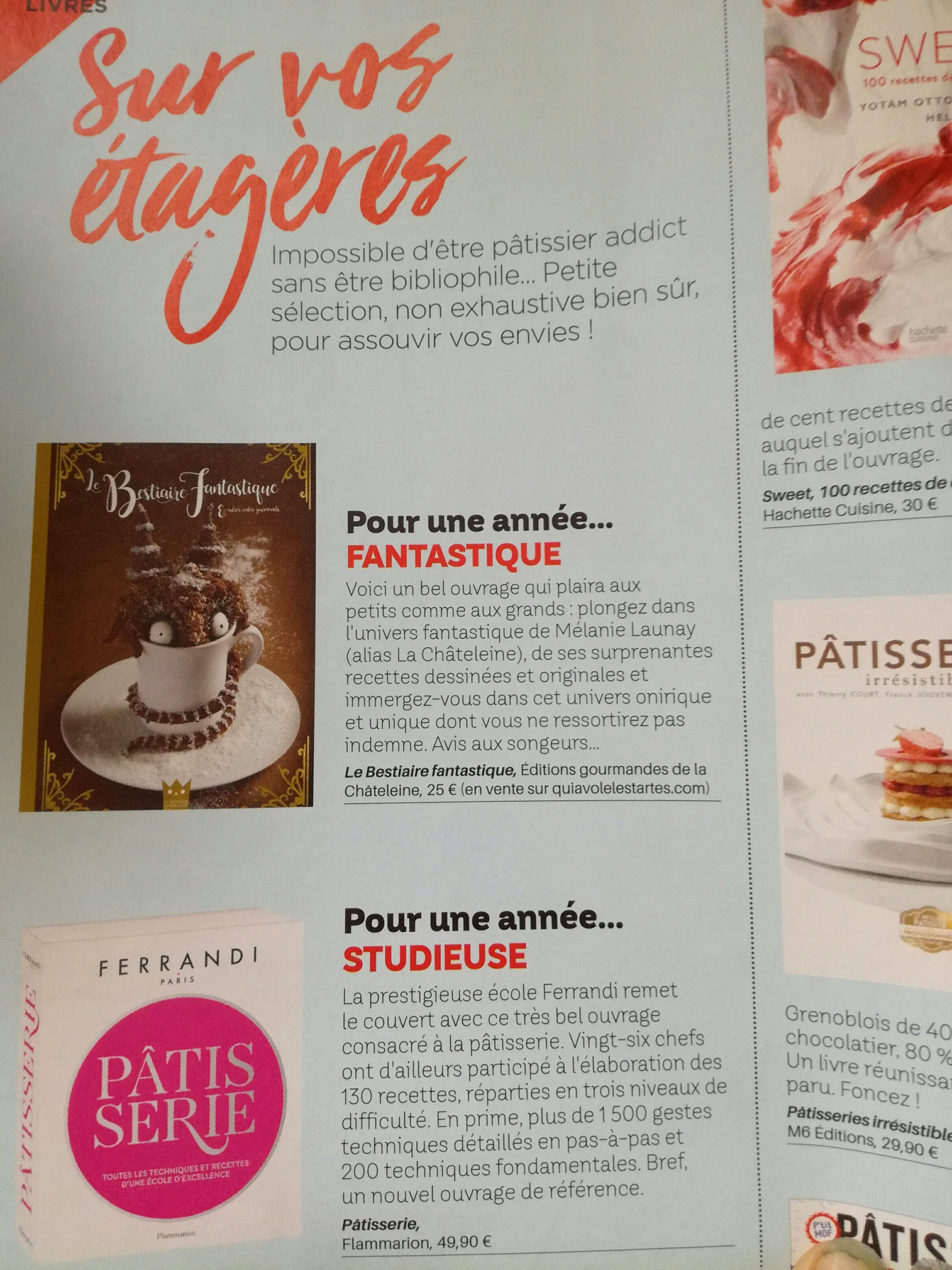 parution pâtisserie & compagnie magazine