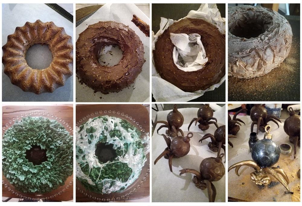Montage christmas wreath and spider baubles- Studio de creation - Qui a vole les tartes