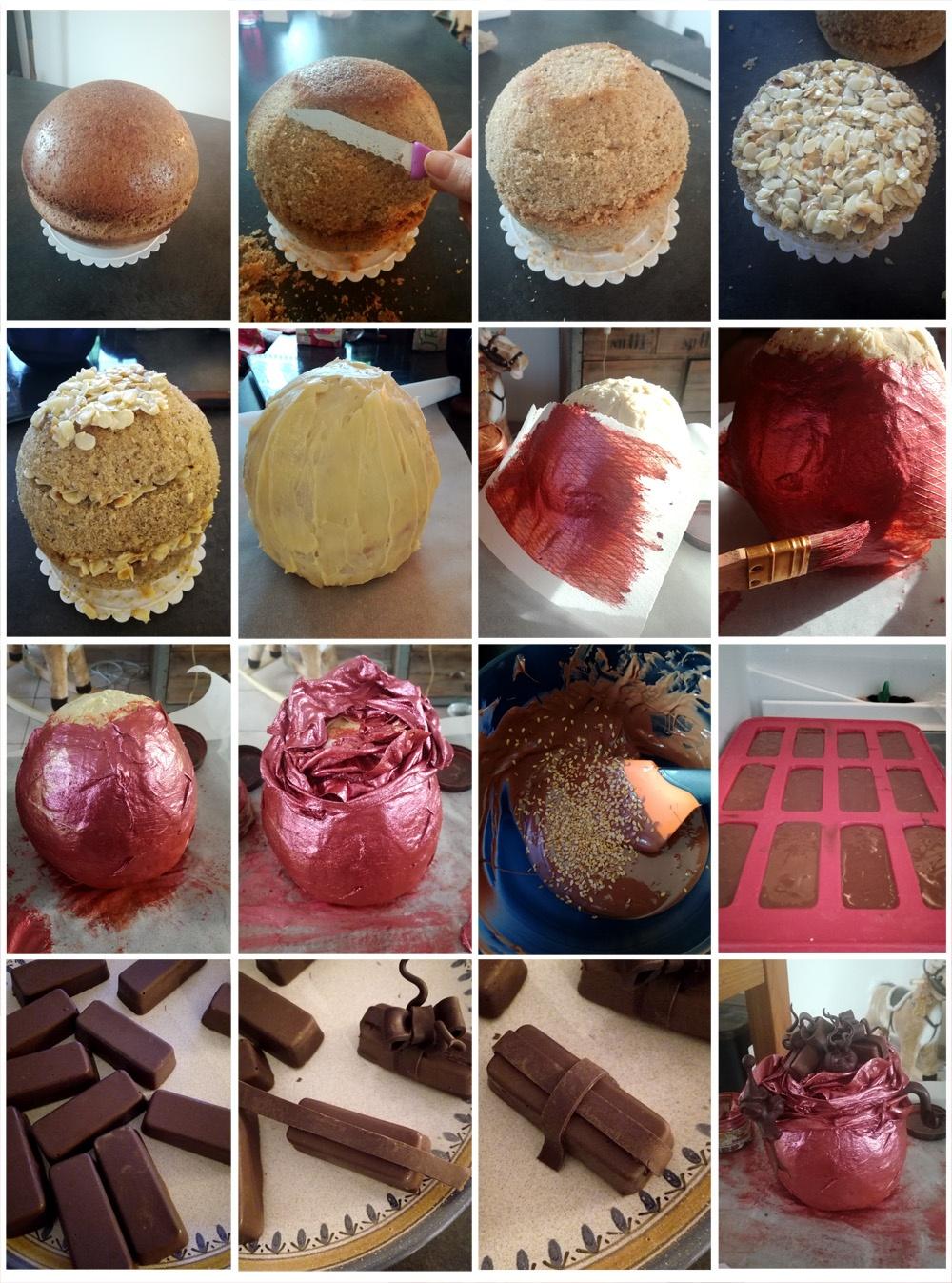 Montage la hotte du Pere Nowel - Studio de creation - Qui a vole les tartes